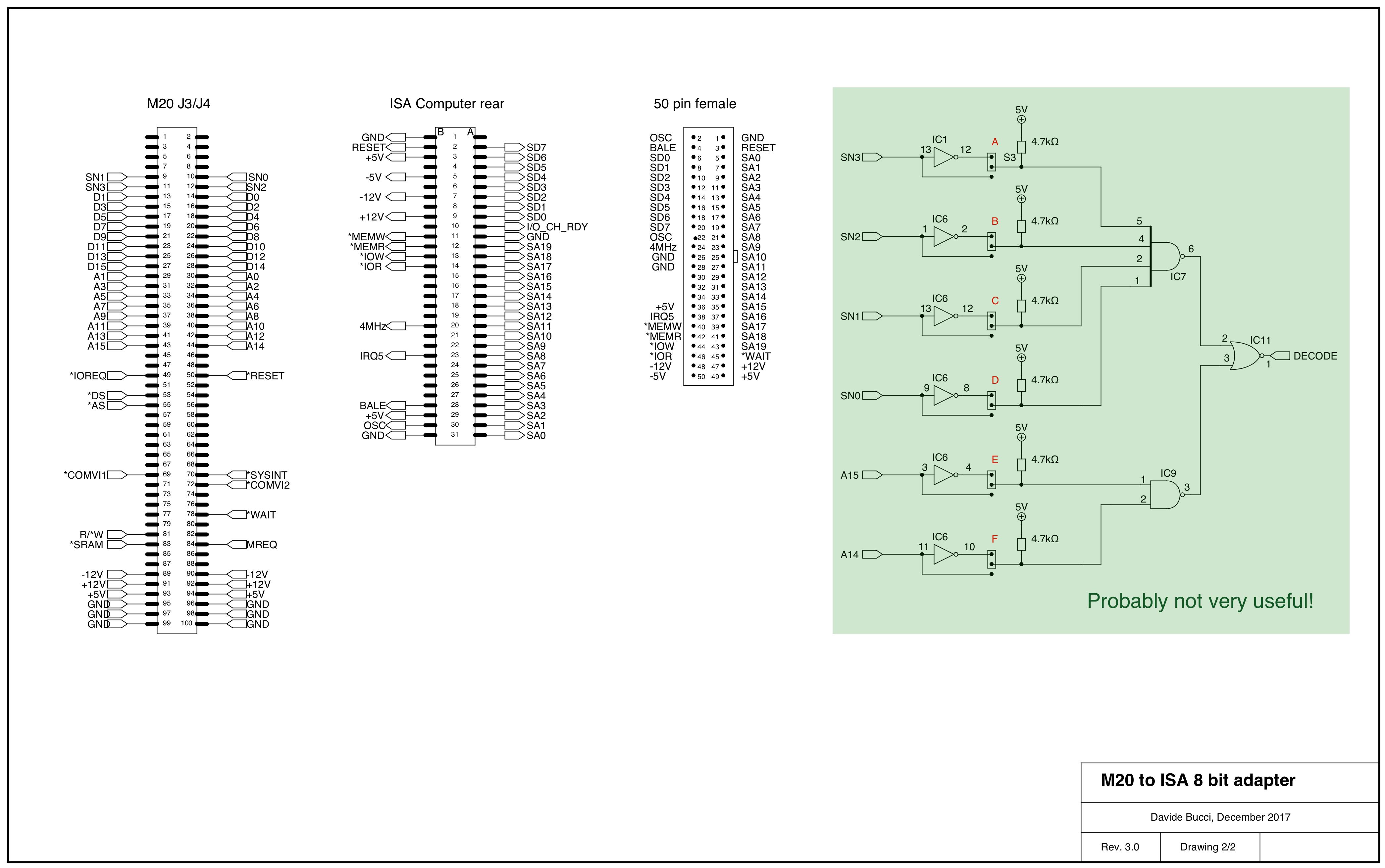 Schematics, page 1 Schematics, page 1