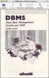 Olivetti M20 DBMS user guide
