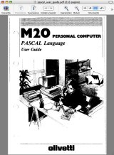 Olivetti M20 Pascal user guide